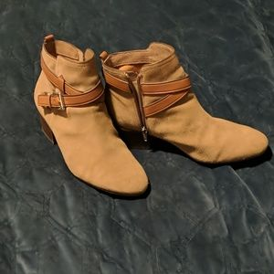 Coach Pauline Bootie 9: Suede and Buckle Strap